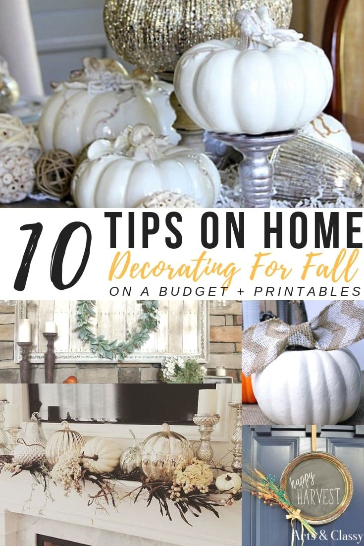 10 Tips On Home Decorating For Fall On A Budget + FREE PRINTABLES | Autumn  Decor DIY | Pinterest | Home Decor, Decor And Fall Home Decor