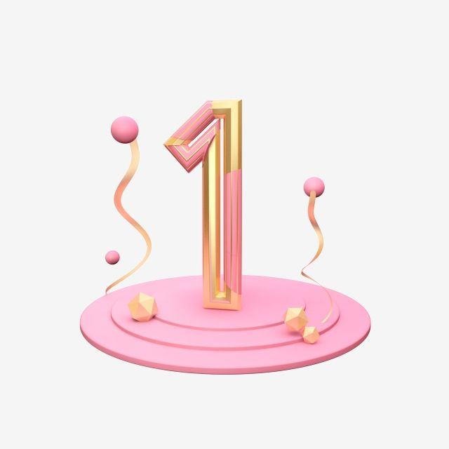 Stereo Number C4d Number 1 Gold Three Dimensional Pink Art Word Three Dimensional Creative Three Aesthetic Fonts Prints For Sale Dimensional Patterns