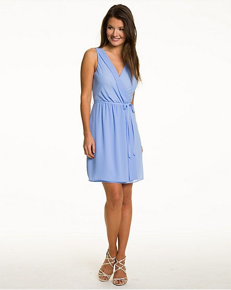 Woven Sleeveless Wrap Dress