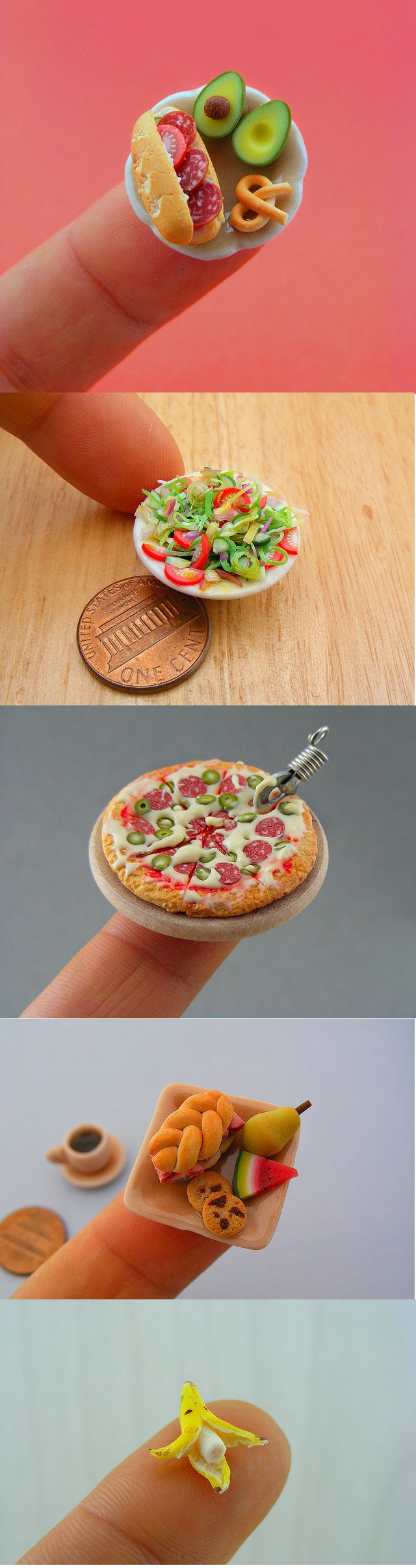 Oh my I've always been mesmerized by minis!!! Love these!   Extraordinary miniature food sculptures by Shay Aaron
