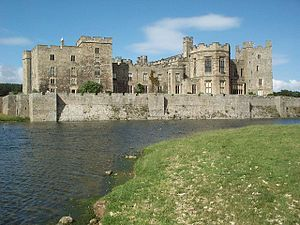Raby Castle is near Staindrop in County Durham, England. The castle was built by John Neville, 3rd Baron Neville de Raby in approximately 1367 to 1390.