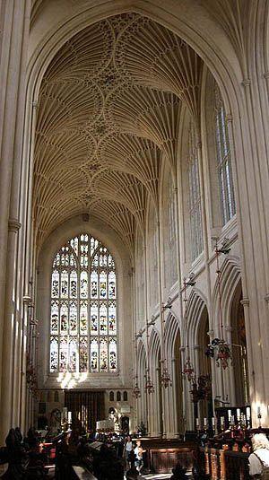 nave of Bath Abbey, UK