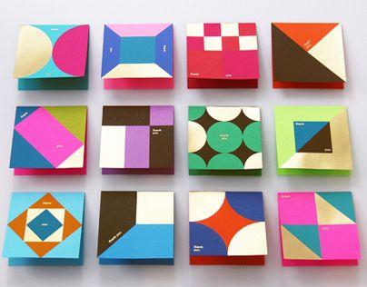 """다음 @Behance 프로젝트 확인: """"Astrobrights Thank You Card""""…"""