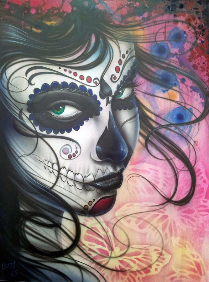 dia de los muertos art   Dia De Los Muertos Chica Painting - Dia De Los Muertos Chica Fine Art ...