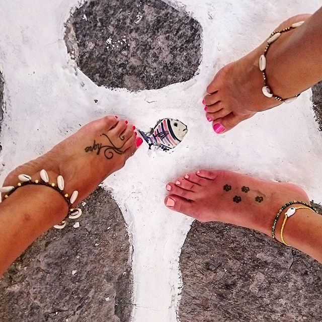 Frolic Stones...shell anklets