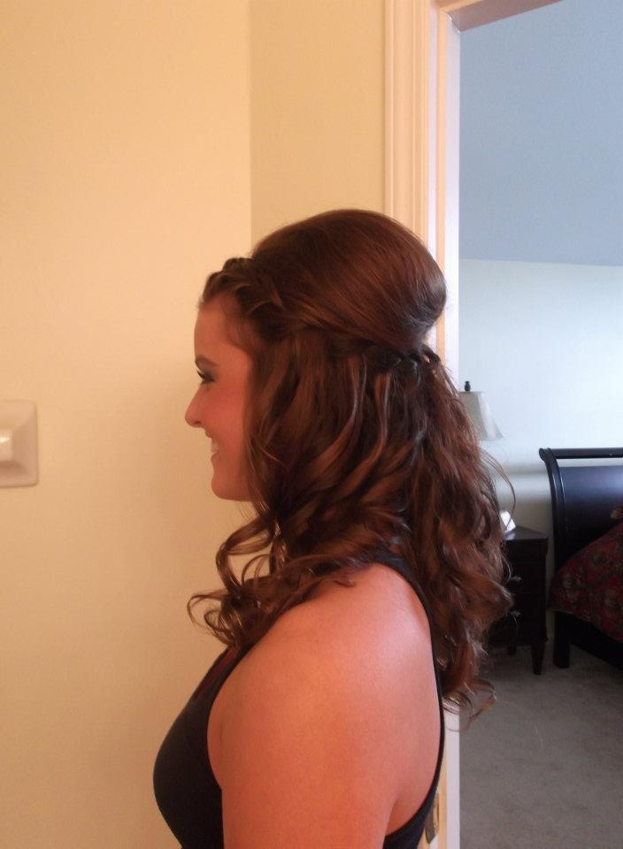 French braid and waterfall braid updo that i did :)