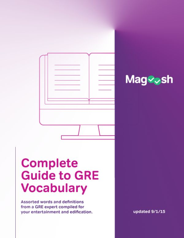 Ask and you shall receive! Based on the many requests from our students (thank you, as always, for your suggestions!), we've compiled the best of our word lists into a one-stop vocabulary resource for the revised GRE in eBook form. It includes: Instructions on how to use our very popular GRE vocabulary lists How to …