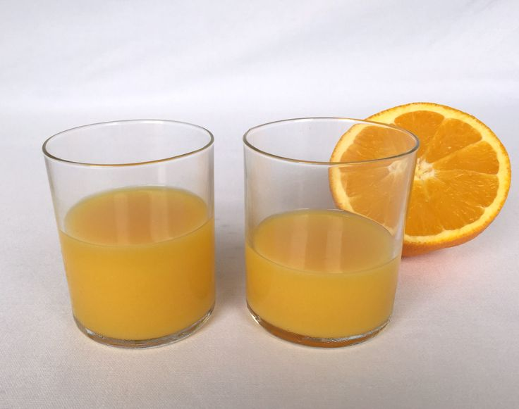 Fresh orange juice to begin the day!