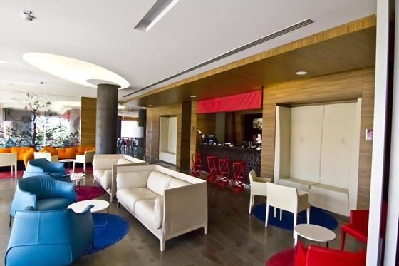 Crowne Plaza hotel's hall
