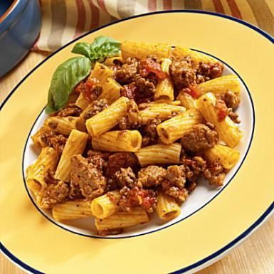 This delicious baked ziti is filled with ground beef and a tomato based sauce. The casserole is baked with a stringy, melty mozzarella cheese topping.