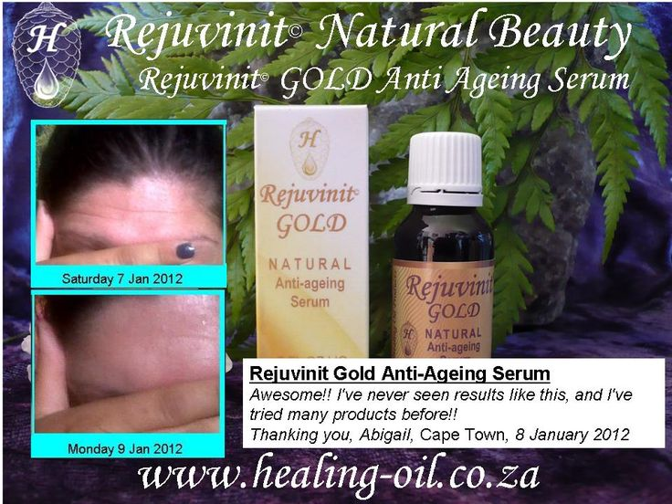 Rejuvinit GOLD anti ageing serum - feelgood feedback from a client. www.healing-oil.co.za
