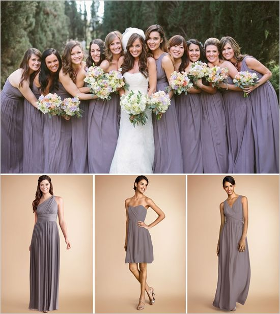 Donna Morgan Grey Bridesmaidsgrey Bridesmaid Dressesbridesmaid