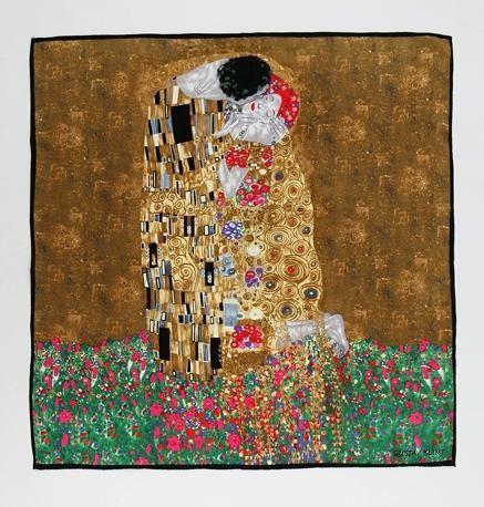 "Large Square Silk Scarf 36x36"" (90x90cm) Classic Oil Painting SSZ008"
