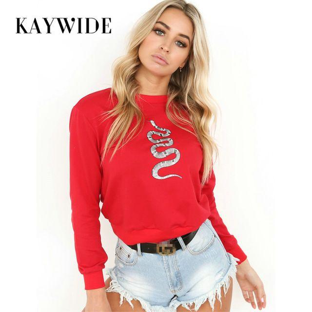 Kaywide 2017 Autumn Fashion Women Hoodies 3d Snake Print Bodycon Elegant Sweatshirts Femme Casual Winter O Neck Loose Pullovers #Brand #KAYWIDE #sweaters #women_clothing #stylish_dresses #style #fashion