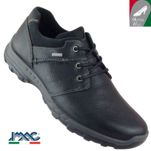 Imac férfi vízálló bőr cipő 41248 13020/011 fekete