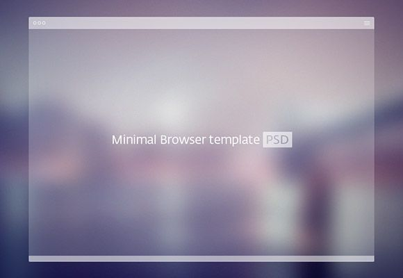 We have collected a lot of browser mockups but this one is unique for its semi-transparent look. Free PSD created by Alexey Izotov.