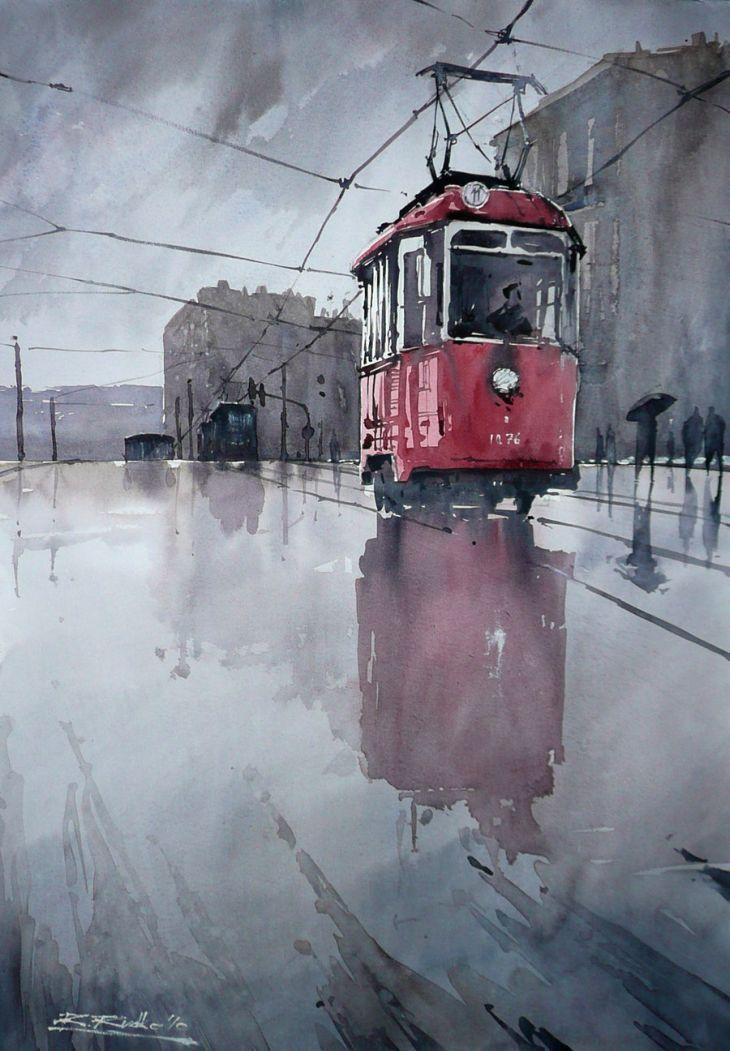 Paintings by Rafal Rudko watercolor