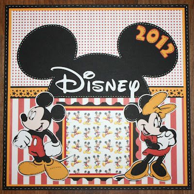 nike rt1 azure shop Disney Mickey  amp  Minnie Scrapbook page   Great for the beginning of your trip