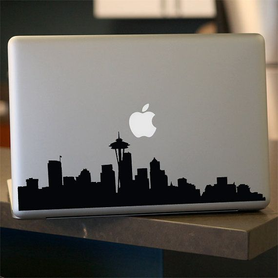 Seattle Skyline Decal  Vinyl Sticker  For Car Window by urbandecal, $12.95