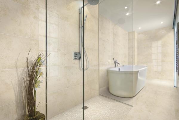 Verde1999com limestone look porcelain tile  Bathroom