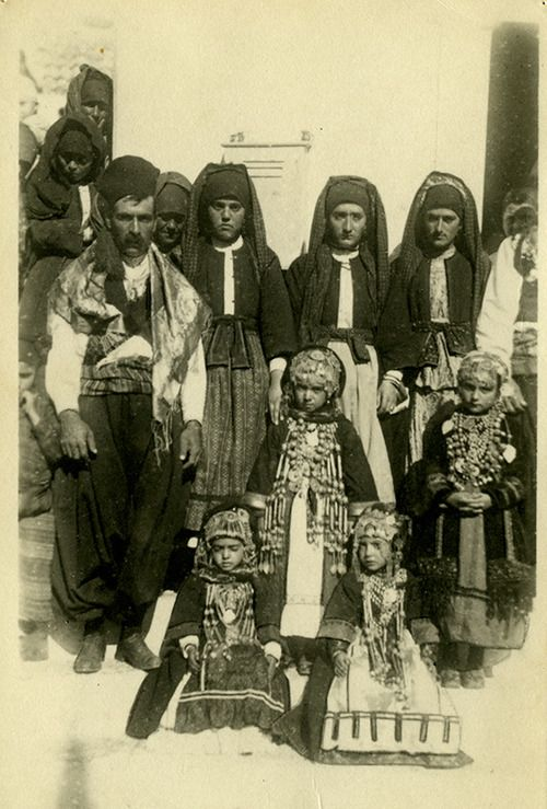 Photo of women, men and kanakares (firstborn girls) of Karpathos, Dodecanese…