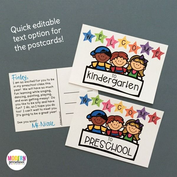 Our EDITABLE Welcome to School pack for preschool & kindergarten teachers includes printable first day certificates, crowns, welcome postcards,…