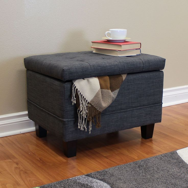 Ottomans Lucia Storage Chest Grey Fabric: 1000+ Ideas About Ottoman Storage On Pinterest