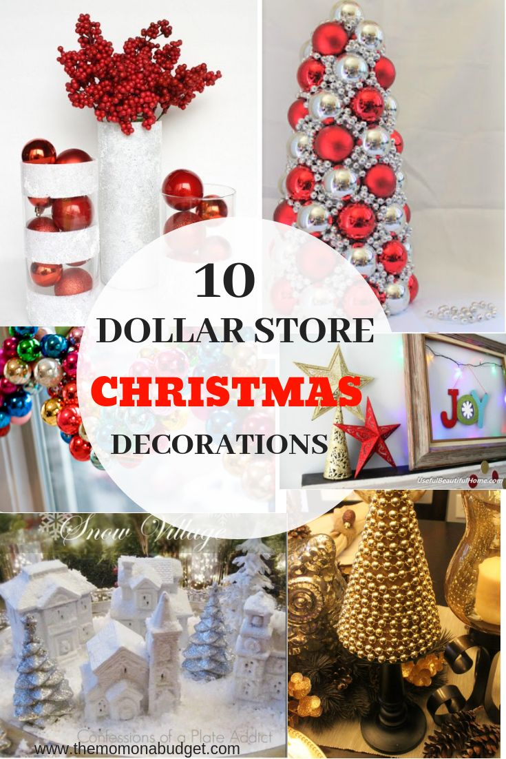 10 Dollar Store Christmas Decoration Ideas