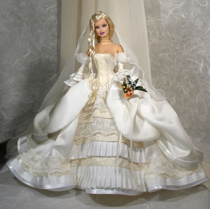 Pretty bride. Tonner OOAK Barbie doll