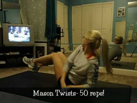 P90X Ab ripper X..I like the way she shows the workout *for free*.  It gives you an amazing stomach!