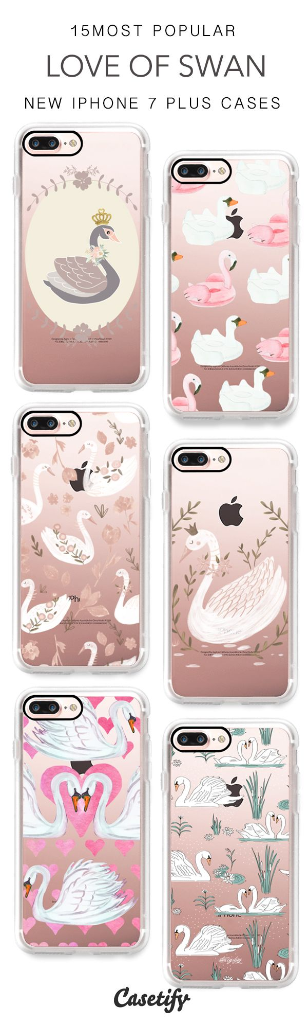 Swans are so loveable. 15 Most Popular Swans iPhone 7 Cases & iPhone 7 Plus Cases here > https://www.casetify.com/artworks/oOgXPPHs6l