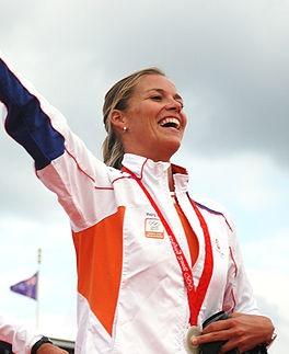 Lobke Berkhout, zeilkampioene in de 470 klasse. 5x wereldkampioen, 1x zilver op de Olympische Spelen in 2008. En...
