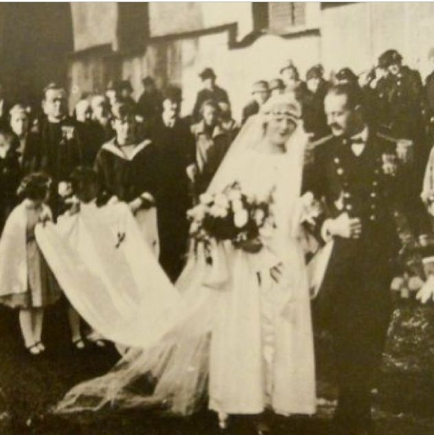 The real Captain Von Trapp and Frou. Maria on their wedding day - The Sound of Music