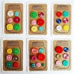 Button Cards: Crafts Ideas, Vintage Buttons, Buttons Crafts, Buttons Buttons, Mason Jars, Vintage Rose, Button Cards, Dreams Cars, Buttons Cards