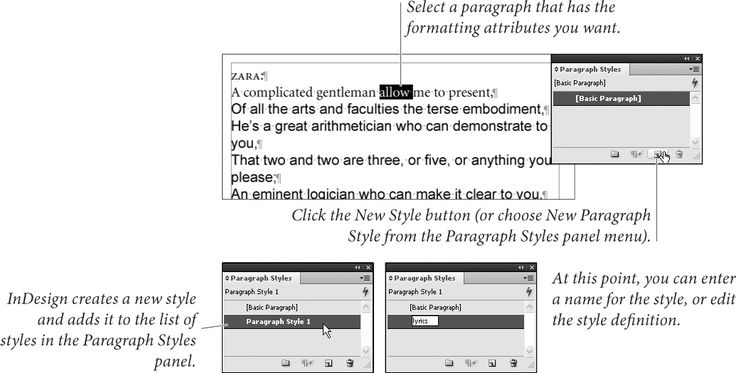 how to find paragraph style on indesign