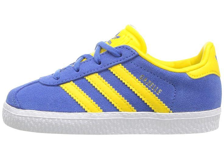 adidas Originals Kids Gazelle (Toddler) Kids Shoes Blue/Ice Yellow/Gold