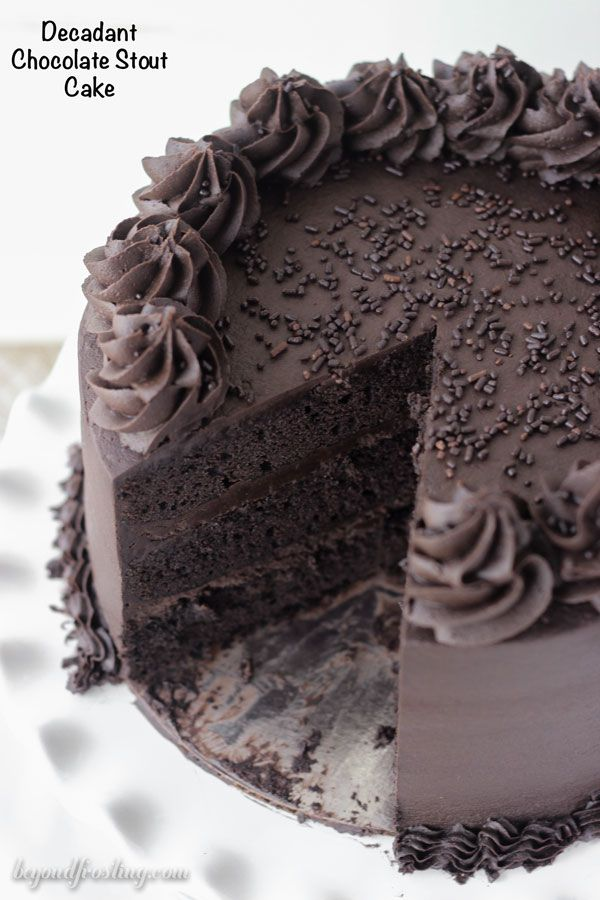 Decedent Chocolate Stout Cake