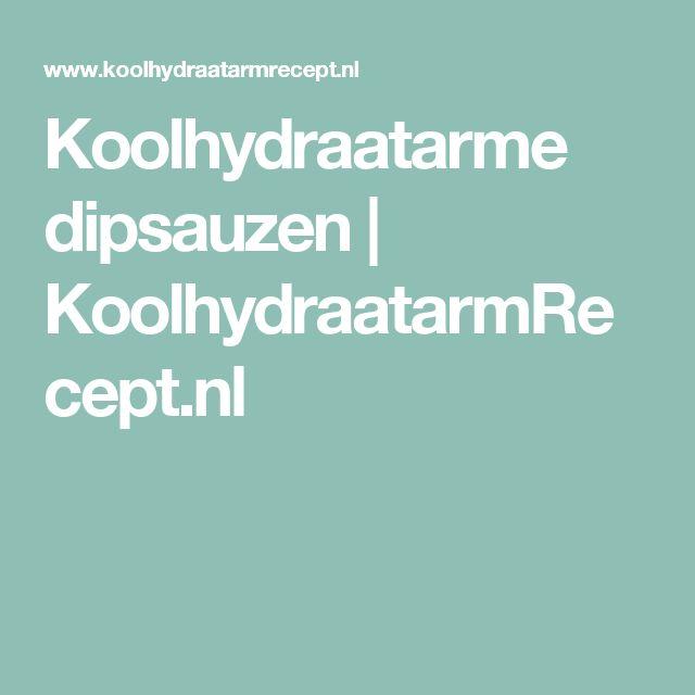 Koolhydraatarme dipsauzen | KoolhydraatarmRecept.nl