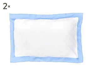 Coppia di federe in puro lino Alain azzurro - 50x80 cm