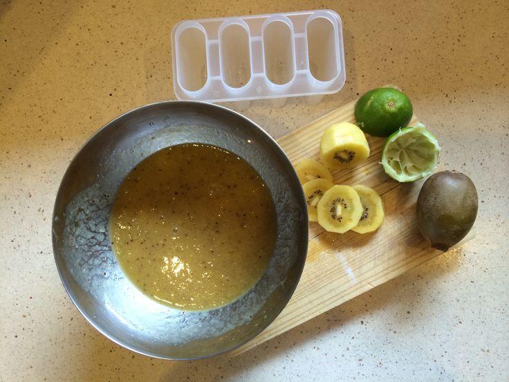 Kiwi + Lima ice cream Work in progress