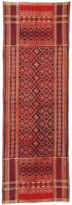Cotton shoulder cloth (selendang), Palembang, Sumatra, mid-20th c.