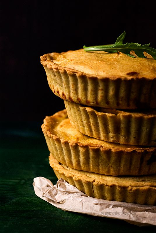 Chicken Pies Made with Corn and Oat Flour Pie Crust