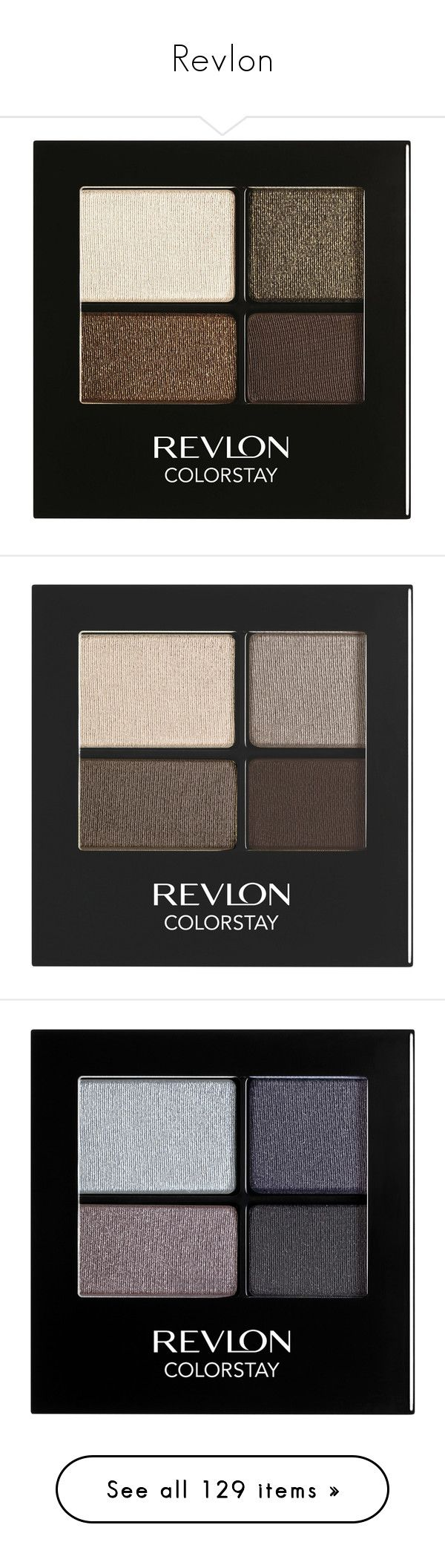 """Revlon"" by shoppings9 ❤ liked on Polyvore featuring beauty products, makeup, eye makeup, eyeshadow, revlon eyeshadow, revlon eye makeup, revlon, revlon eye shadow, eye brow makeup and siren"
