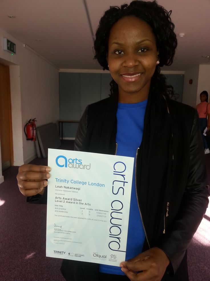 PAYP participant gets her Arts Awards Certificate! Well done!