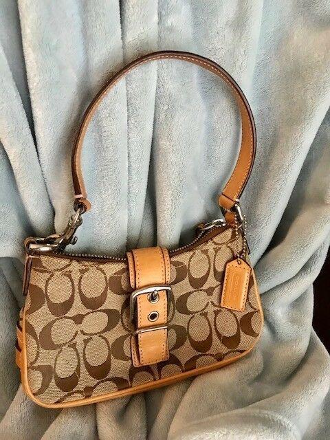 Vintage Coach small signature shoulder bag  fashion  clothing  shoes   accessories  womensbagshandbags a1a4b4646dc8b
