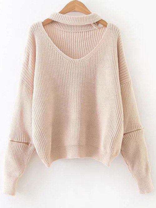 $19.49 for Zipped Oversized Choker Neck Sweater