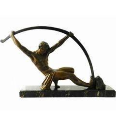 Art Deco L'age Du Bronze Signed D H Chiparus Large size Sculpture
