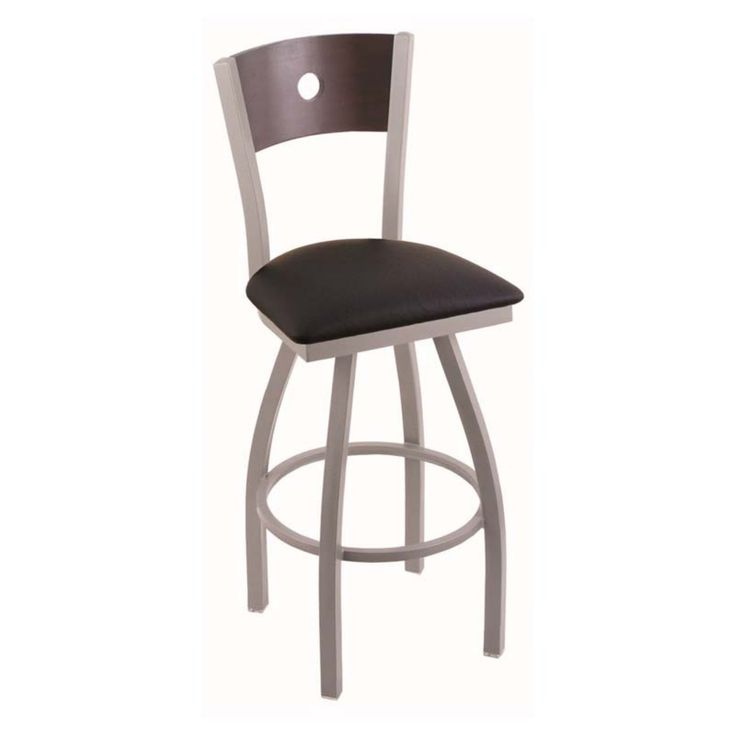 Holland Bar Stool Voltaire 30 in. Swivel Bar Stool with Faux Leather Seat - 83030ANDCMPLBBLKVINYL