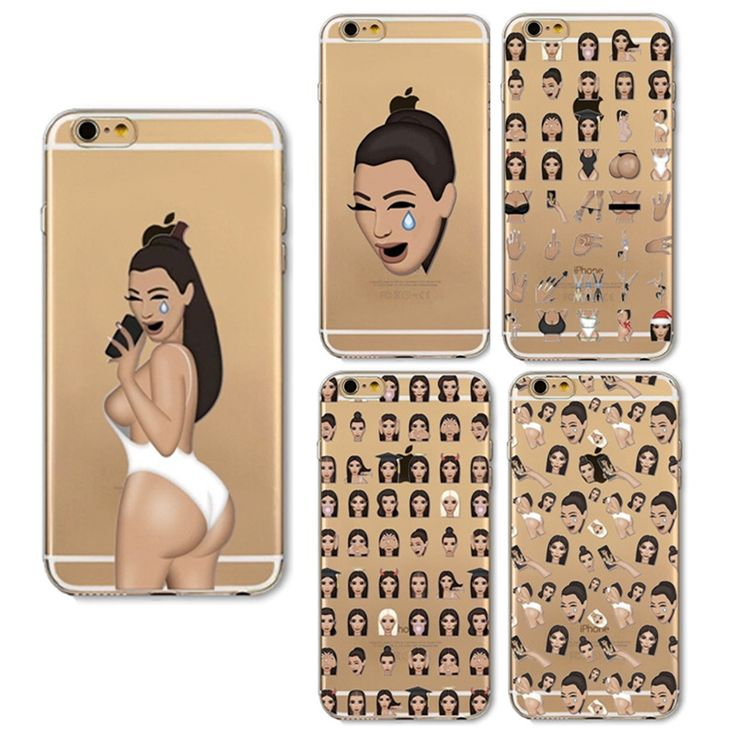 For Apple iPhone 6 6s Plus 5s Cases Sexy Kim Kardashian Painted Cartoon Phone Case Cover for Iphone 6 Clear Soft TPU Cover Coque #clothing,#shoes,#jewelry,#women,#men,#hats,#watches,#belts,#fashion,#style
