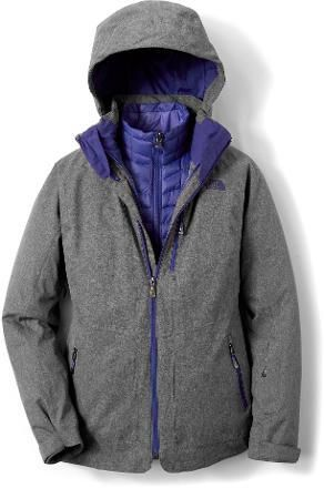 Keep your loved one dry and warm with this 3-in-1 system. This jacket's ThermoBall insulation gives them down-like warmth at a superlight weight and insulates even when damp. A removable powder skirt adds to the versatile fun outdoors. More colors available on rei.com.
